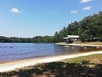 St Saud Lacoussiere swimming lake 10 minutes drive away