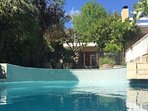 Our beautiful pool is solar-heated in summer