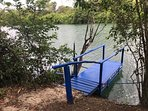 A new floating dock made out of 5 years if plastic bottles!