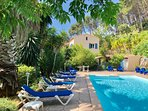 Mas du vallon and the private pool 12x6m safe for children