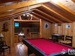 Loft bar top table and pool table