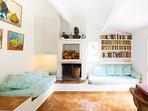 Lounge with 2 x single sofa beds