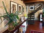Staircase leading to 1st floor bedroom, mezzanine,bathroom/dressing room, bath veranda and kiln room