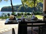Le restaurant au pied de la résidence, face à l'Ocean Pacifique