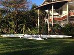 le vaaa pirogue traditionnelle polynésienne, venez assister à une course de pirogues !