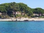 Villa vue de la mer
