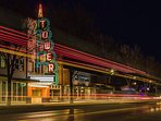 Uptown 23rd - 5 mins away: see a show at Tower Theater, eat at The Drake, grab a drink at Bunker Club or Ponyboy