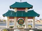 Asian district - 5 mins away: favorites include Pho Lien Hoa, Cafe Kacao, The Red Cup