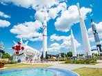 Close to the Kennedy Space Center - maybe you can catch a launch when you are visiting!