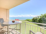High top table and chairs on your private balcony to enjoy the unobstructed view, a glass of wine or cup of coffee!!