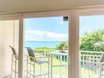 View from the living room to the ocean