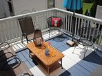 Attached, outdoor deck for a breezy place to unwind