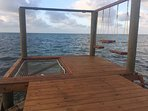 large over the water hammock and swings for a great time