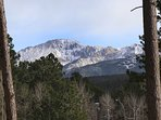 View of Pike's Peak from our back yard.