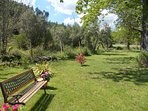 A place to meditate and relax in fresh air ,among olives and our poplar trees.