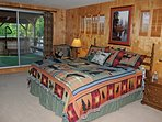 Spacious Master Bedroom Suite with Lake & Mountain views - King bed sleeps 2