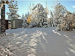 Large Back Yard Winter paradise is ready for 100ft toboggan run
