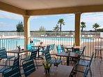 snack terrasse piscine