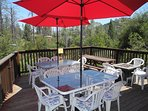 Side Deck from Breakfast Nook Door.  Propane Smores Cooker on Right Side