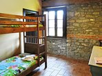 Bunk room leading to double room