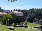 The Roman Bridge leading to O Palheiro & Ponte Romana restaurants.