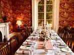 Dining room at the manor.