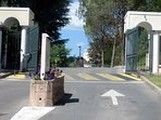 Security gate entrance to peaceful luxury development. Ample safe parking.