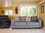 Plenty of comfortable seating in the large living area