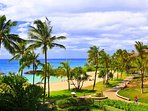 Island landscaping near the lagoon by this Ko Olina beach villa for rent.