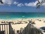 Lounge Chairs & Umbrellas at Beach