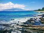 Ocean blue waters of Kam 3 Beach - Just a brief walk from Kam 2 Beach.