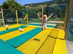 Ramsau outdoor pool, free trampolines, playground and much more.