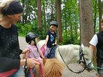 Pony riding.  ABC stables 500m from Chalet Vista.