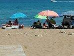 Playa tranquila y no congestionada