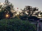 Evening sun with balloon