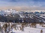Whistler winter overlooking Whistler Mountain