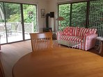 Sun room  with deck