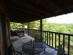 Back deck seating overlooking view