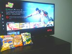 Netflix movies and popcorn