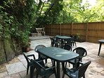 Patio with garden furniture/ bar be que