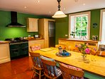 Large country kitchen at Coolclogher House Kerry