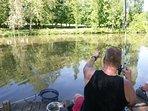 Pêche à l'étang de la Shertane