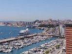 Vista de Puerto Chico en Santander.