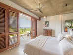 Master bedroom: king size bedroom. Opens on a terrace outlooking the ocean