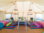 Inside KING OF HEARTS Glamping