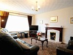 Comfortable Living room with SKY TV & Gas Living Flame Open Fire