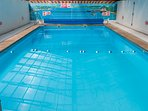 Heated indoor pool open April to October