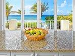 Kitchen island views.