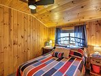 Two guests will sleep comfortably in here!