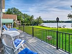 You'll love the view of McGrath Pond from the deck at this vacation rental house